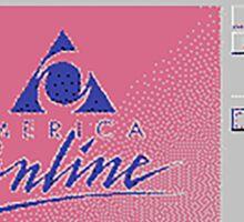 america online Sticker