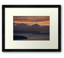 Sunrise in the Harbour Framed Print