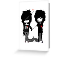 EMO- Forever You And I Greeting Card