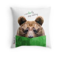 I can BEARly stop reading... Throw Pillow