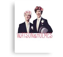 Johnlock | Flower Crowns Canvas Print