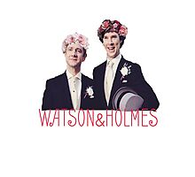 Johnlock | Flower Crowns Photographic Print