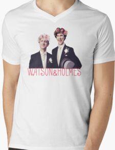 Johnlock | Flower Crowns Mens V-Neck T-Shirt