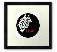 Direwolf - Ghost Framed Print