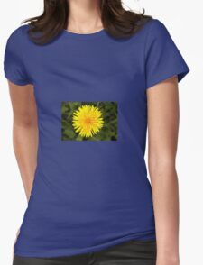 yellow dandelion Womens Fitted T-Shirt
