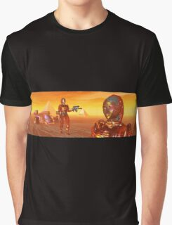 CYBORG ARES IN THE DESERT OF HYPERION Sci Fi Movie Graphic T-Shirt