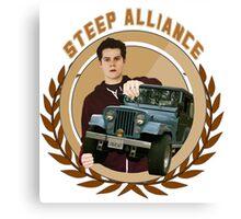 Steep Alliance [Stiles&The Jeep] Canvas Print