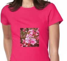 Ladybug on Blooming Azalea Bush Womens Fitted T-Shirt