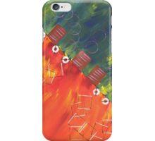 Orange Rot grün iPhone Case/Skin
