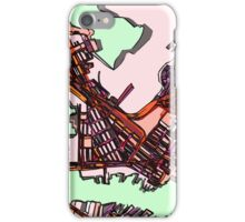 Abstract Map of East Boston iPhone Case/Skin
