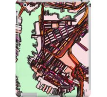 Abstract Map of East Boston iPad Case/Skin