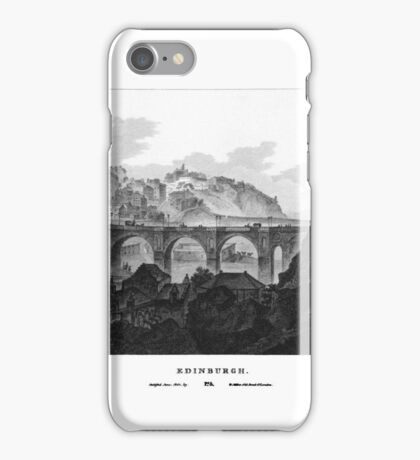 Scotia Depicta by by James Fittler - Edinburgh - Etchings of towns, castles and scenery from Scotland in the early iPhone Case/Skin