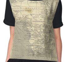 Vintage Map Of Africa (Early 20th Century) Women's Chiffon Top