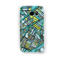 Abstract Map of Davis Square, Somerville Samsung Galaxy Case/Skin