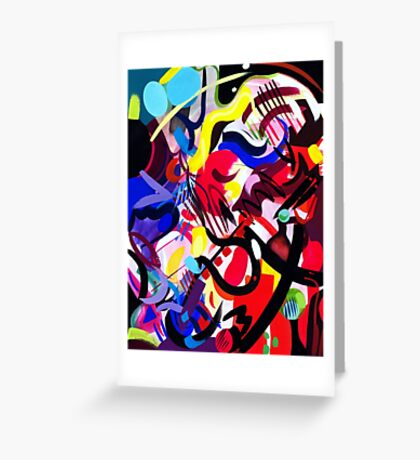 Psych Abstract Greeting Card