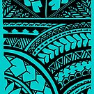 Polynesian Hawaiian All over tribal print by integralapparel