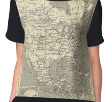 Vintage Map Of North America (Early 20th Century) Women's Chiffon Top