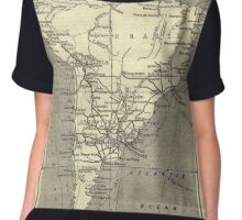 Vintage Map Of South America (Early 20th Century) Women's Chiffon Top