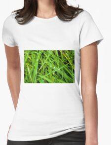 Winter Grass Womens Fitted T-Shirt