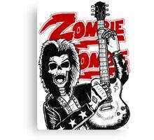 Guitar skull Canvas Print