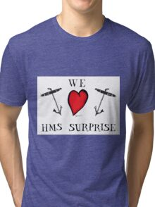 we love hms surprise, tony fernandes Tri-blend T-Shirt