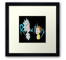 rick and morty ford Framed Print