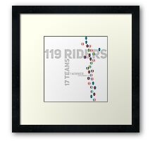 Cycling Race Framed Print