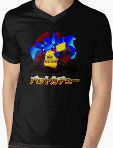 Pokemon Bat Pikachu Mens V-Neck T-Shirt