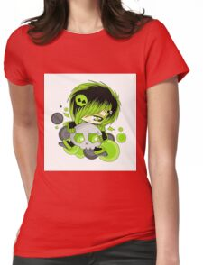 EMO- Green Fashion Womens Fitted T-Shirt