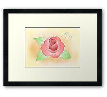 Traditional Rose Framed Print