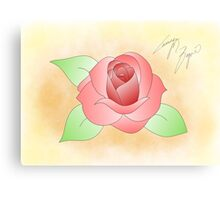 Traditional Rose Canvas Print