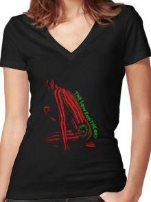 The Low End Theory Women's Fitted V-Neck T-Shirt