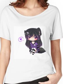 EMO- Kitty Cat Tail Women's Relaxed Fit T-Shirt