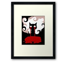 EMO- Nosebleed ing cat Framed Print