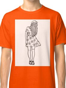 BW Hipster Girl Classic T-Shirt