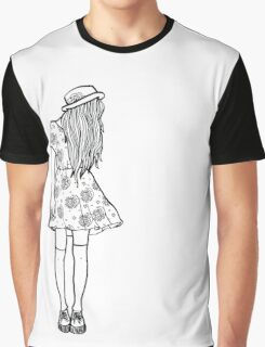 BW Hipster Girl Graphic T-Shirt
