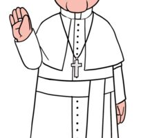 Pope Francis (Smile & Wave) Sticker
