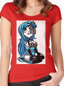 EMO- Blue Moonlight Women's Fitted Scoop T-Shirt