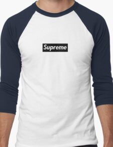 Supreme Black Box Logo Men's Baseball ¾ T-Shirt