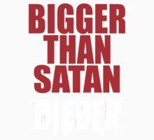 Bigger Than Satan _JUstin_BiebeR Kids Tee