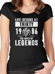 LIFE BEGINS AT 30 Women's Fitted Scoop T-Shirt