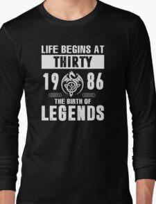 LIFE BEGINS AT 30 Long Sleeve T-Shirt