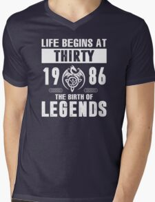 LIFE BEGINS AT 30 Mens V-Neck T-Shirt