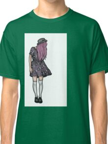 Pale Hipster Girl Classic T-Shirt