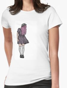 Pale Hipster Girl Womens Fitted T-Shirt