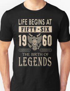 LIFE BEGINS AT 56 T-Shirt