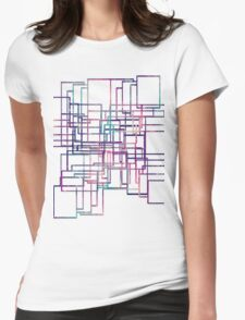 cool patchwork  Womens Fitted T-Shirt