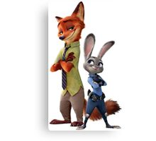 JUDY HOPPS AND NICK WILDE ZOOTOPIA Canvas Print