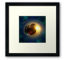 Mini-Planet Lonely Tree Spaced Framed Print