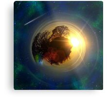 Mini-Planet Lonely Tree Spaced Metal Print